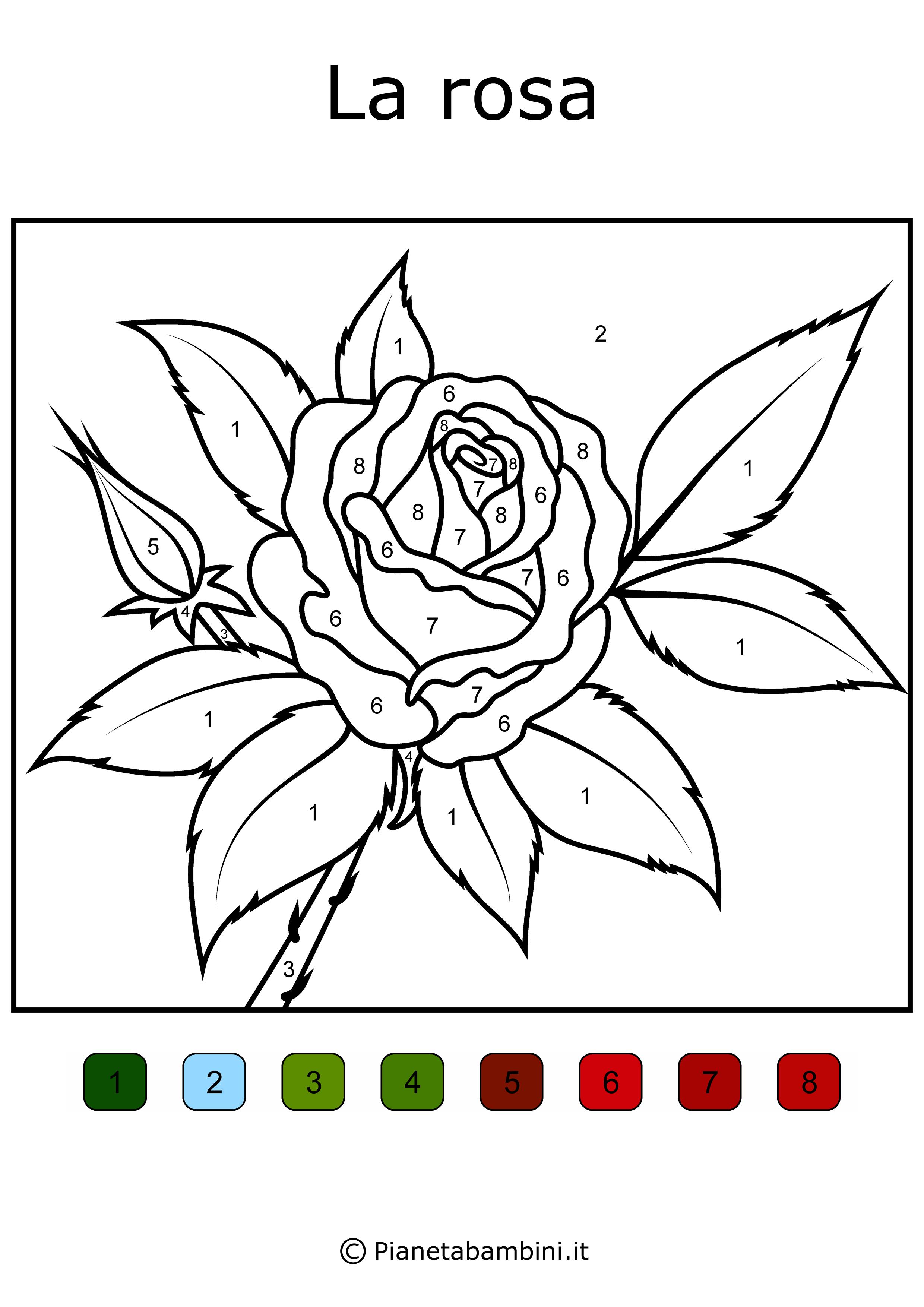 Conta E Colora 48 Disegni Da Colorare In Base Ai Numeri Disegni Da Colorare Disegni Numeri