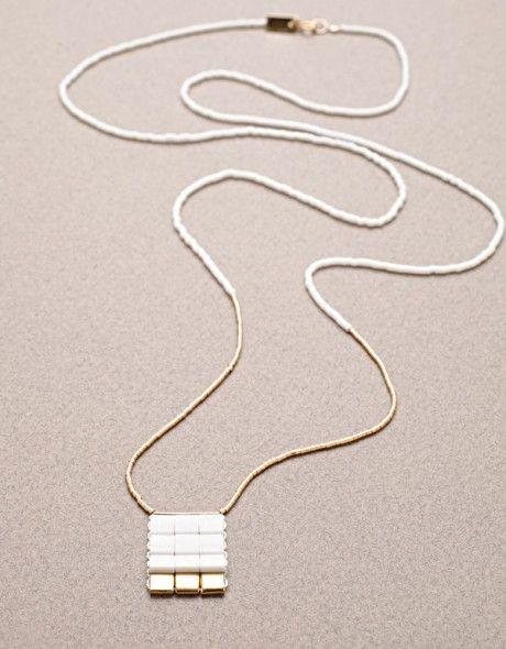 White Knight Long Necklace from Iwona Ludyga