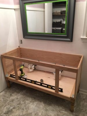 Build A Diy Bathroom Vanity Part 2 Attaching The Sides Diy