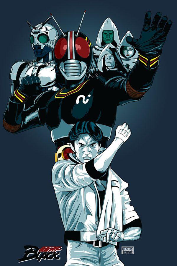 Kamen Rider Black Poster Fan Art on Behance | buy my art | Kamen