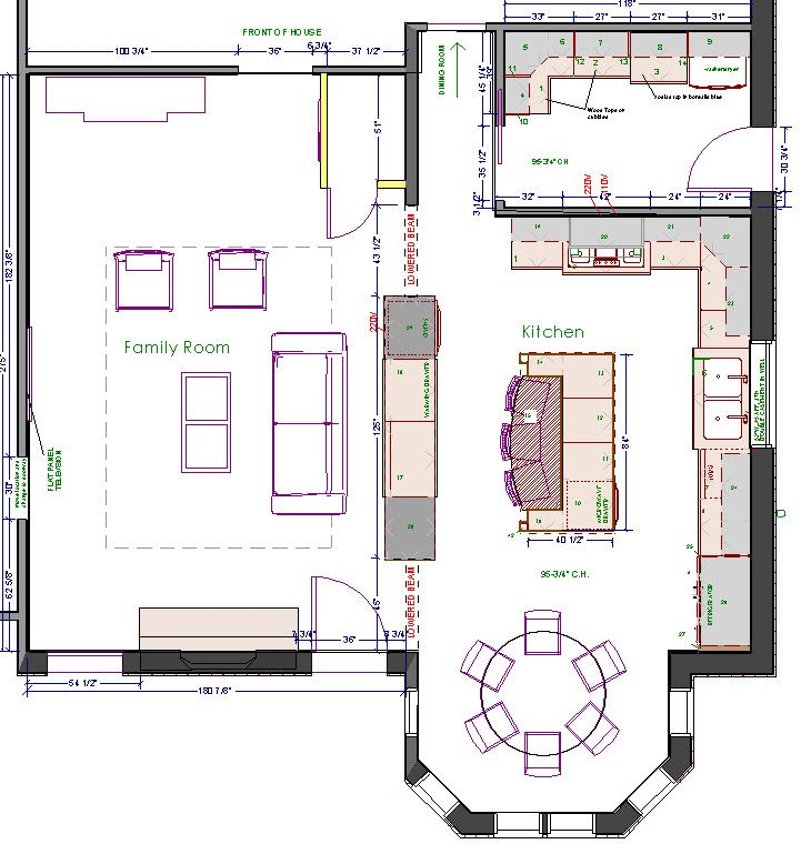 Small Kitchen Layout Plans: Large Kitchen Design Floor Plans