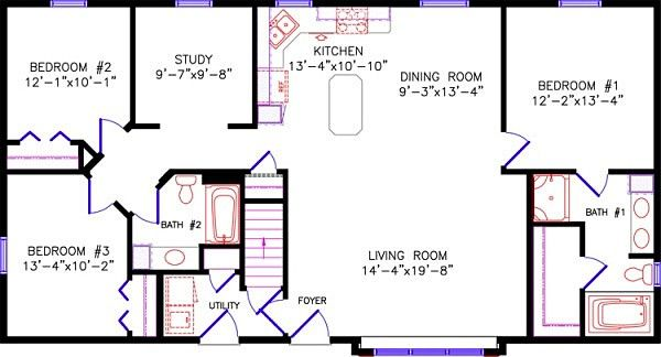 Dowling Construction Inc Floor Plans Floor Plans Ranch Remodeling Plans