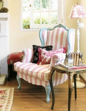 french country upholstered chairs foter stripes that sizzle rh pinterest com