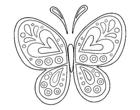 Dibujo de Mandala mariposa para Colorear: | bordados | Pinterest ...