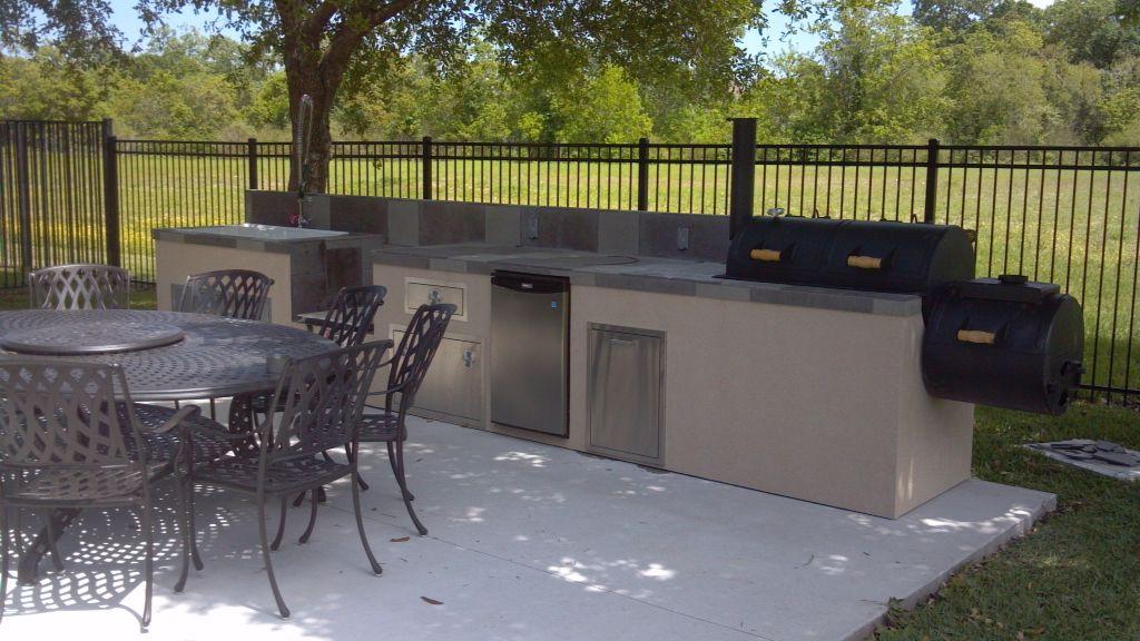 Outdoor Kitchen Island With Built In Smoker Outdoor Kitchen
