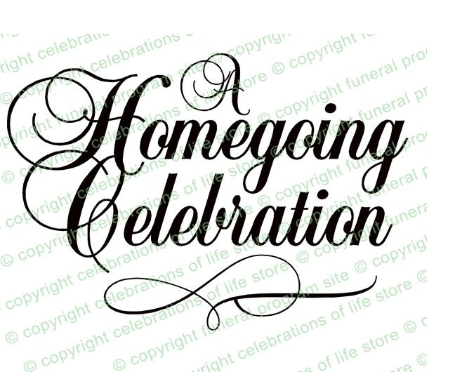 A Homegoing Celebration Funeral Program Title (With images