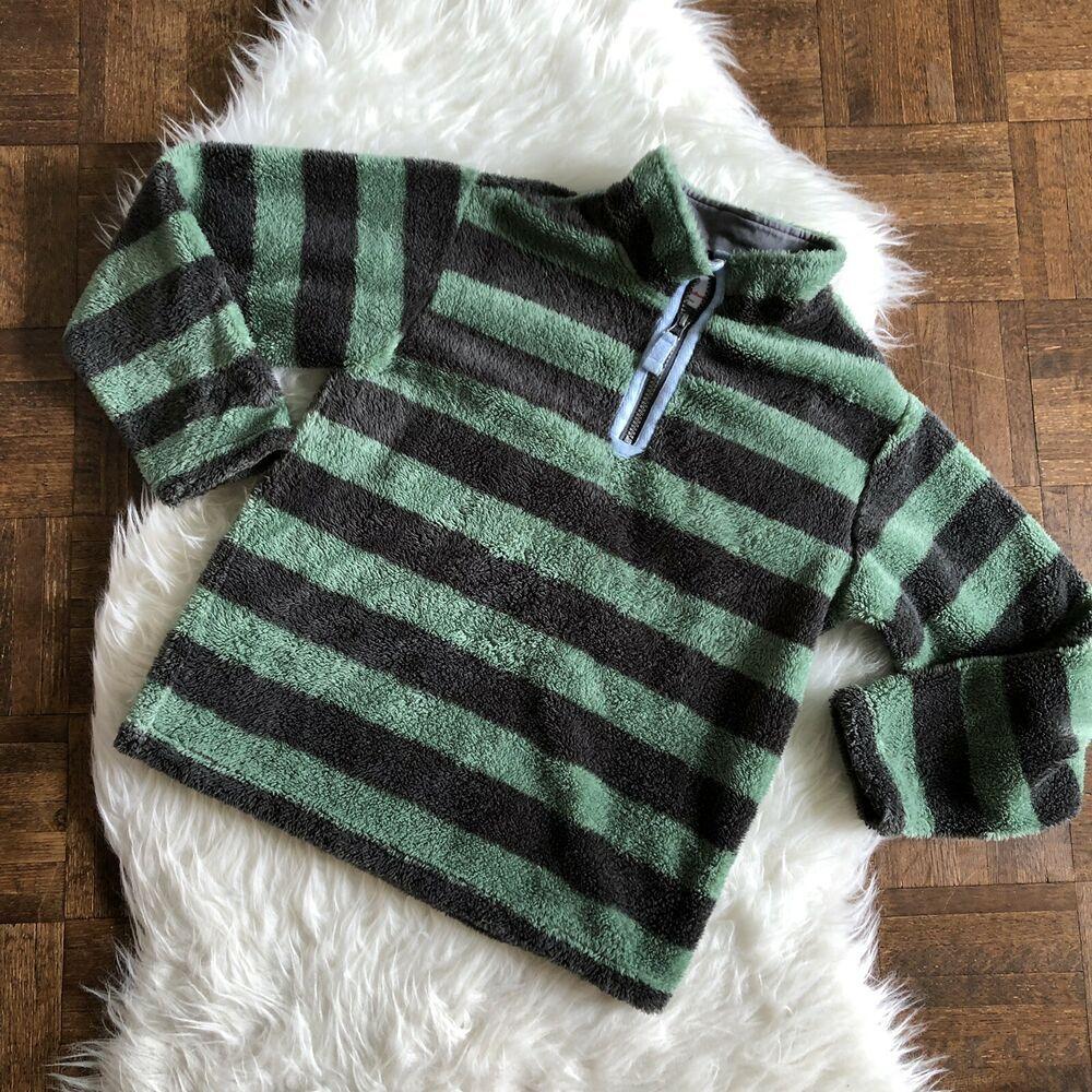 Hanna Anderson Kids Boys 1//4 Zip Soft Fleece Pullover Sweater