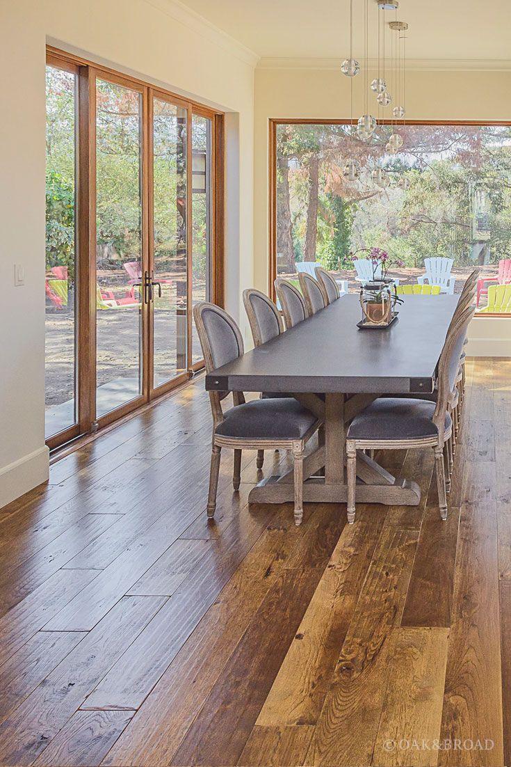 Custom Hand Scraped Hickory Floor In Cupertino Oak