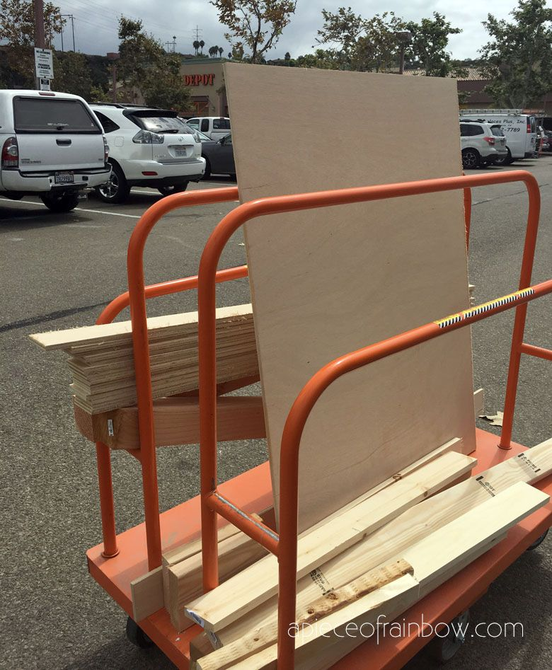 DIY Bed Frame & Wood Headboard (1500 Look for 100!) in