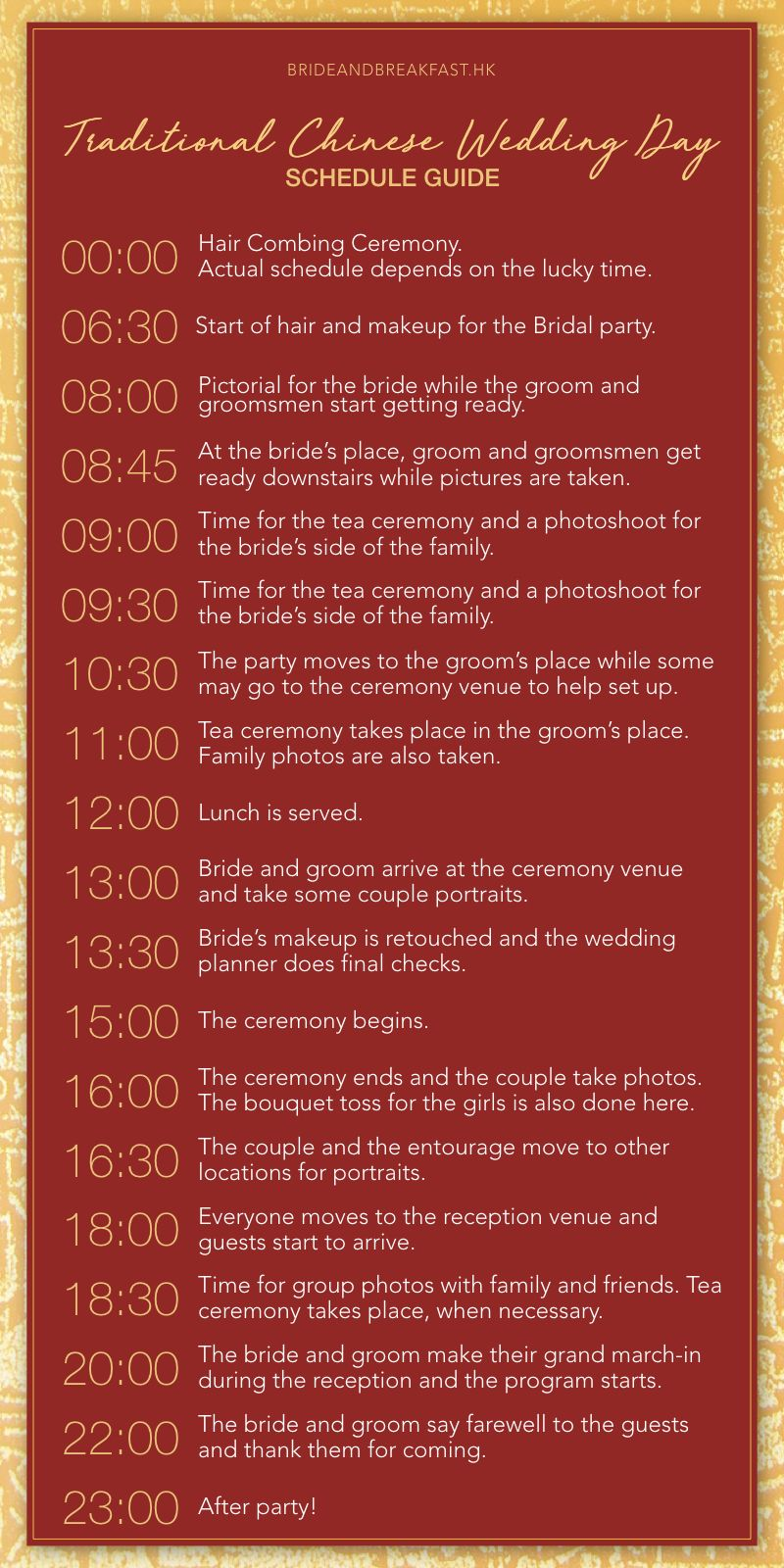 Traditional Chinese and Western-Style Wedding Day Schedule Guide ...