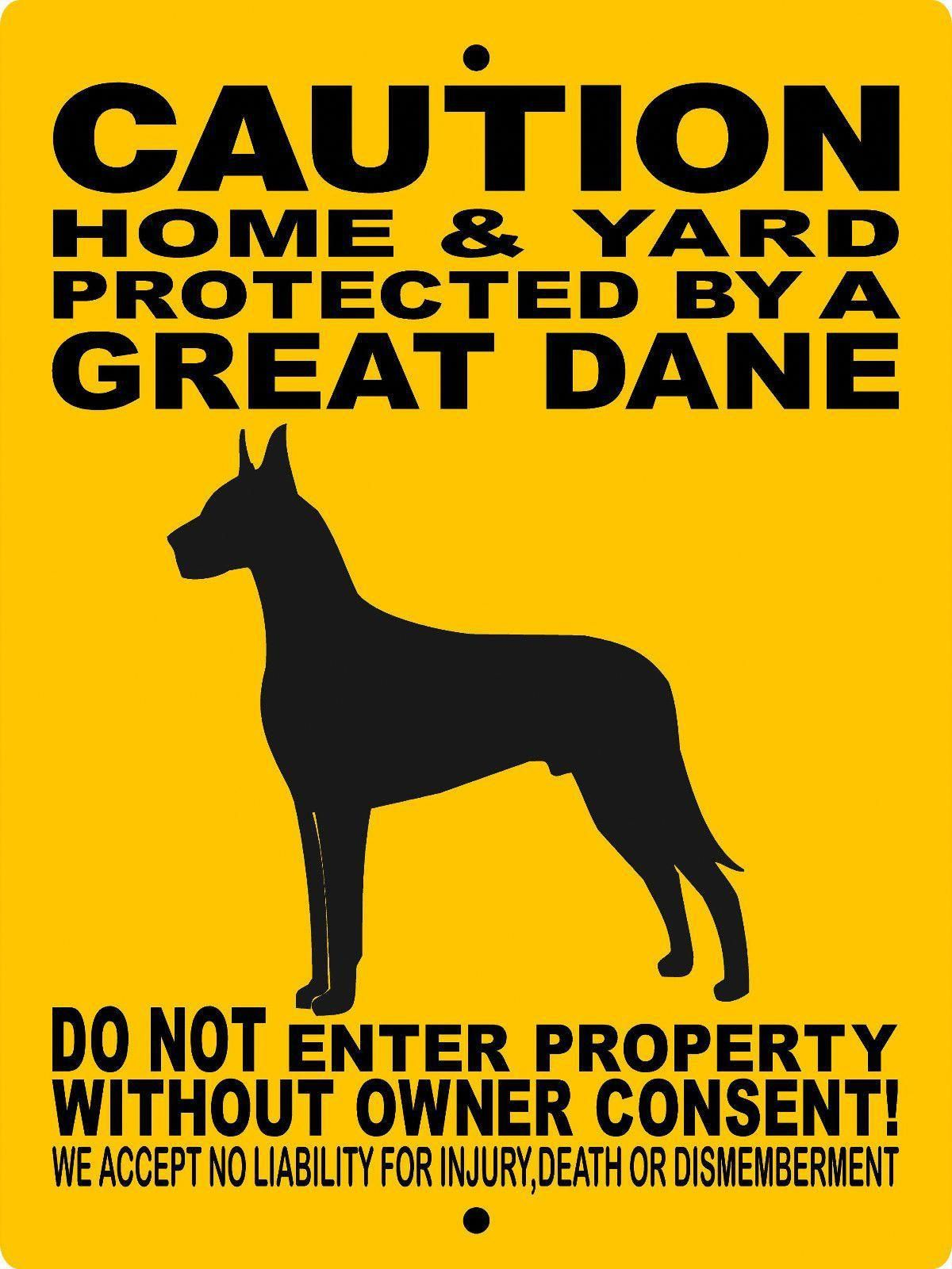 Great dane aluminum dog sign 2496gd Dog signs, Great