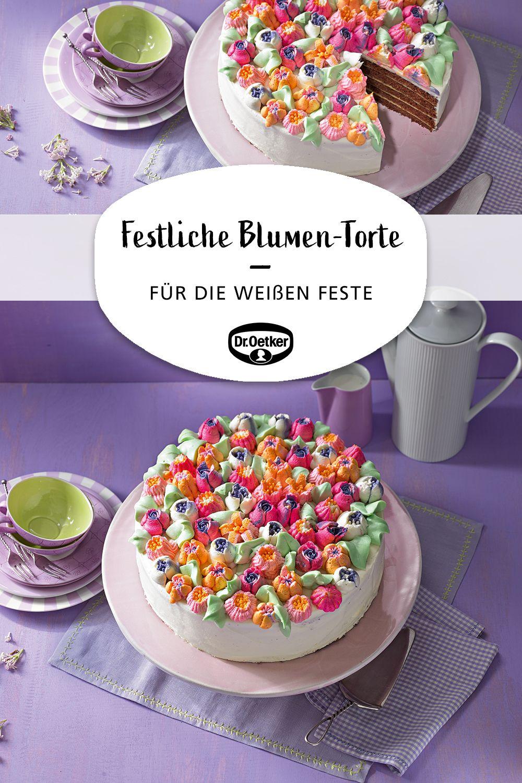 Festliche Blumen Torte Rezept Torten Rezepte Blumen Torte Und Blumentorte
