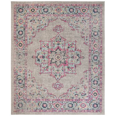 Bungalow Rose Villanova Power Loom Gray Light Blue Pink Rug Wayfair In 2020 Artisan Lighting Rugs Area Rugs