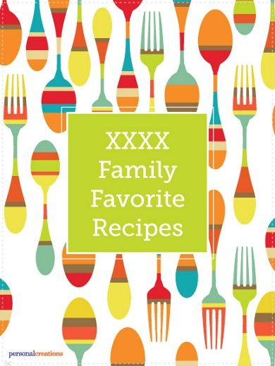 Personalized Recipe Book Cover
