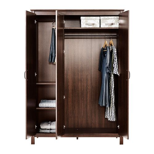 brusali armoire penderie 3 portes ikea la porte miroir permet un gain de place plus besoin d. Black Bedroom Furniture Sets. Home Design Ideas