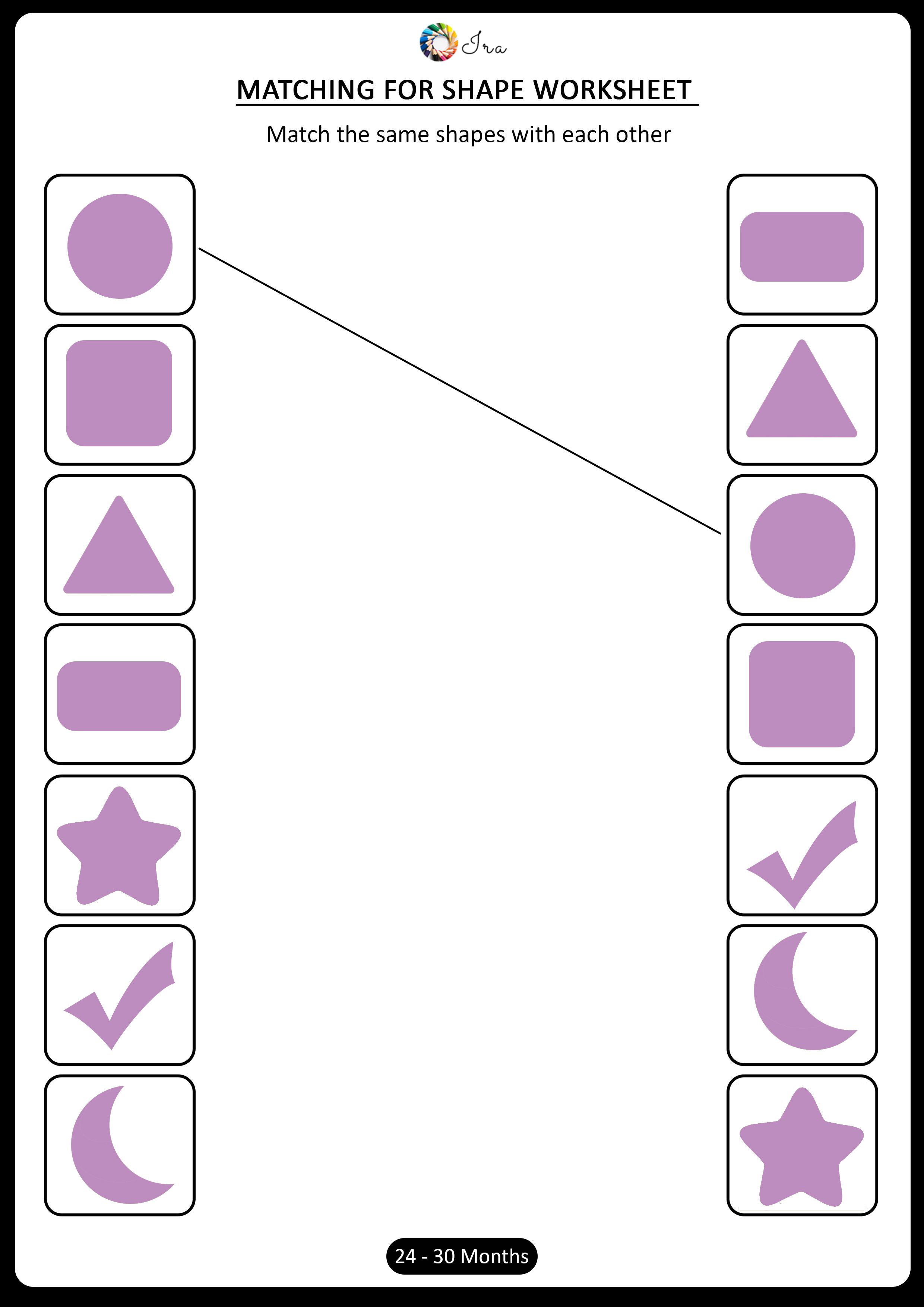 Free Printable Matching Shapes Worksheets For 24 30