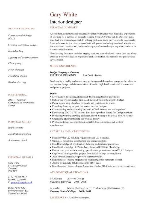 Construction Cv Template Job Description Cv Writing Building
