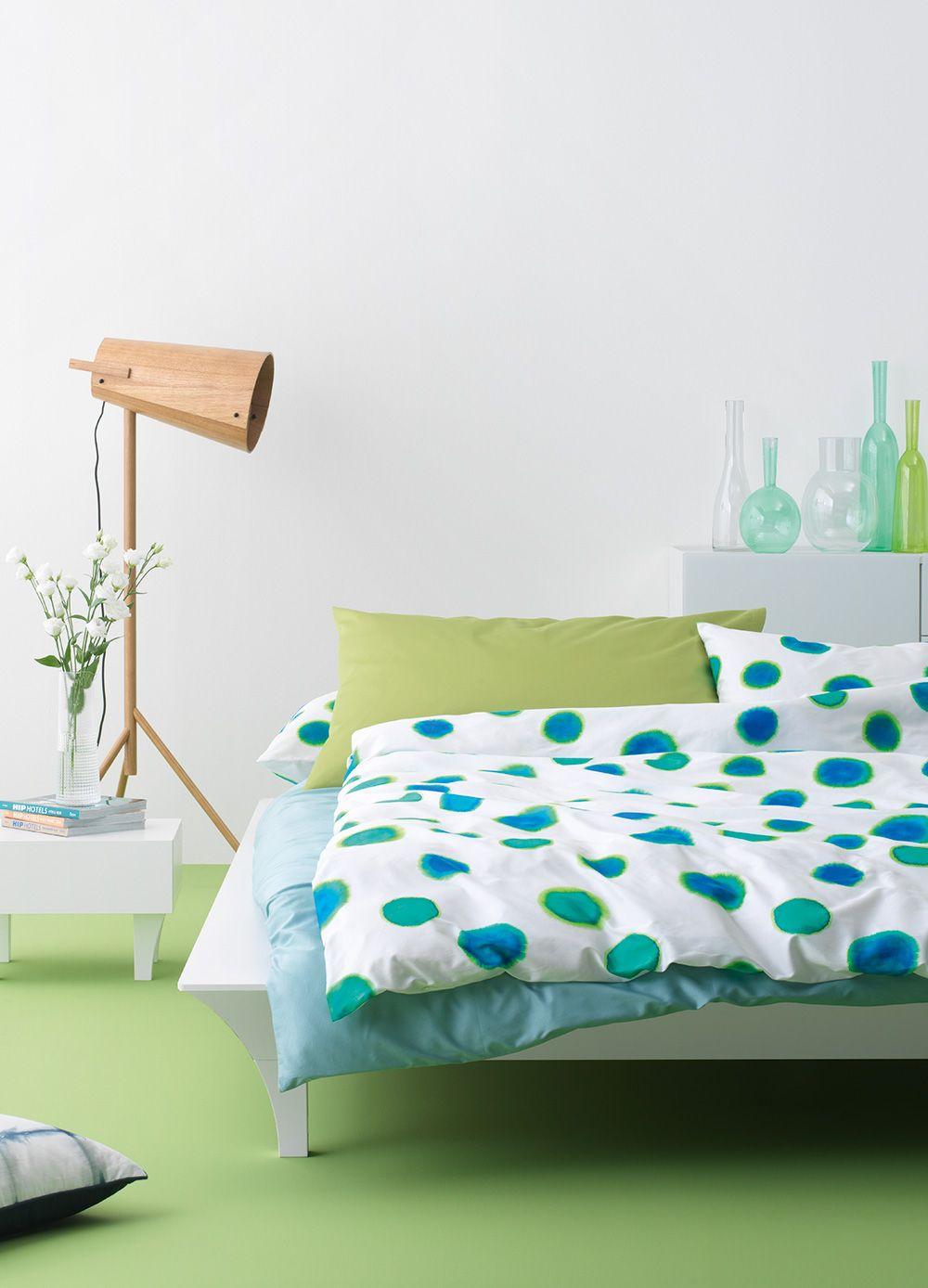 Ein frisches Schlafzimmer mit den Farben Grün und Blau. | Schlafen ...