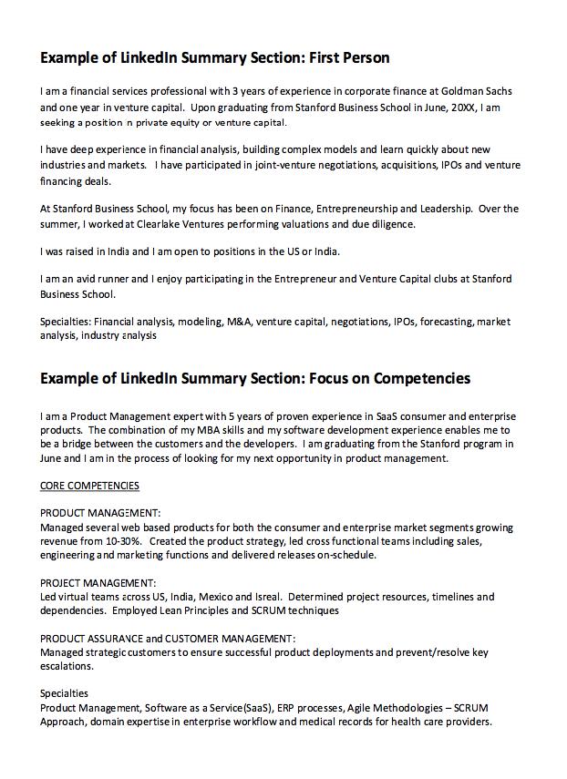 Linkedin 4 Resume Examples Resume Examples Sample Resume Resume