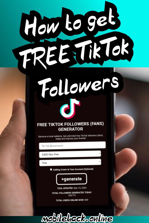 How To Get Tiktok Followers In 2021 Tutorial Free Followers How To Get Famous How To Get Followers