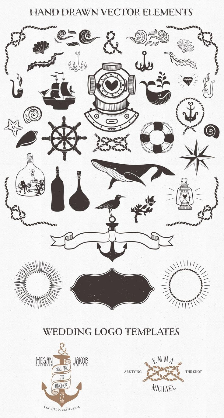 Nautical free vector elements & logo templates — download
