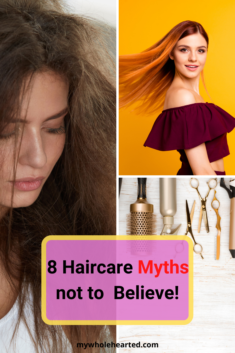 Before taking care of hair, you must make sure that you