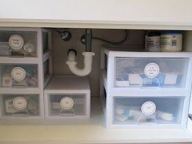 Making The Most Of Under Your Bathroom Sink Can Also Work Of Closet As Well In 2020 Bathroom Cabinet Organization Bathroom Sink Storage Under Bathroom Sinks