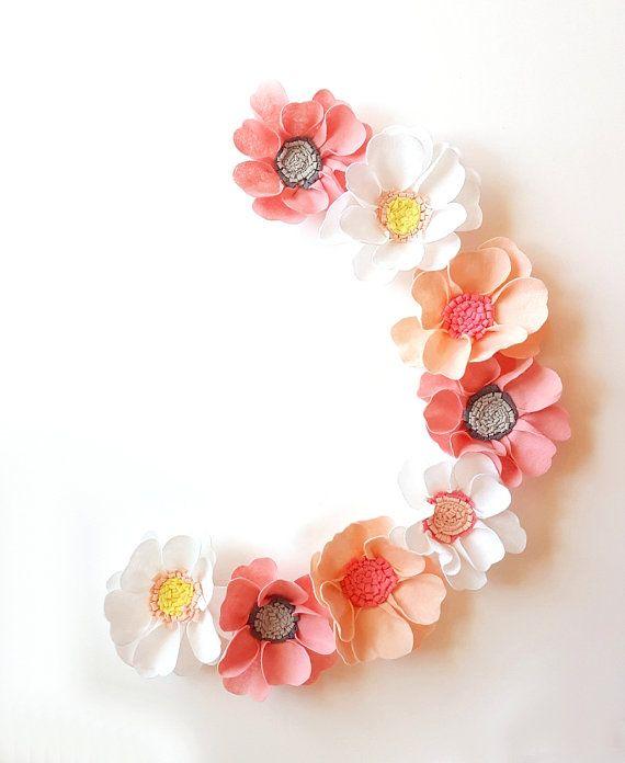 Felt flower backdrop, photography prop,  cherry wedding backdrop, flower backdrop, baby nursery, flower wall, nursery decor, cherry blossom