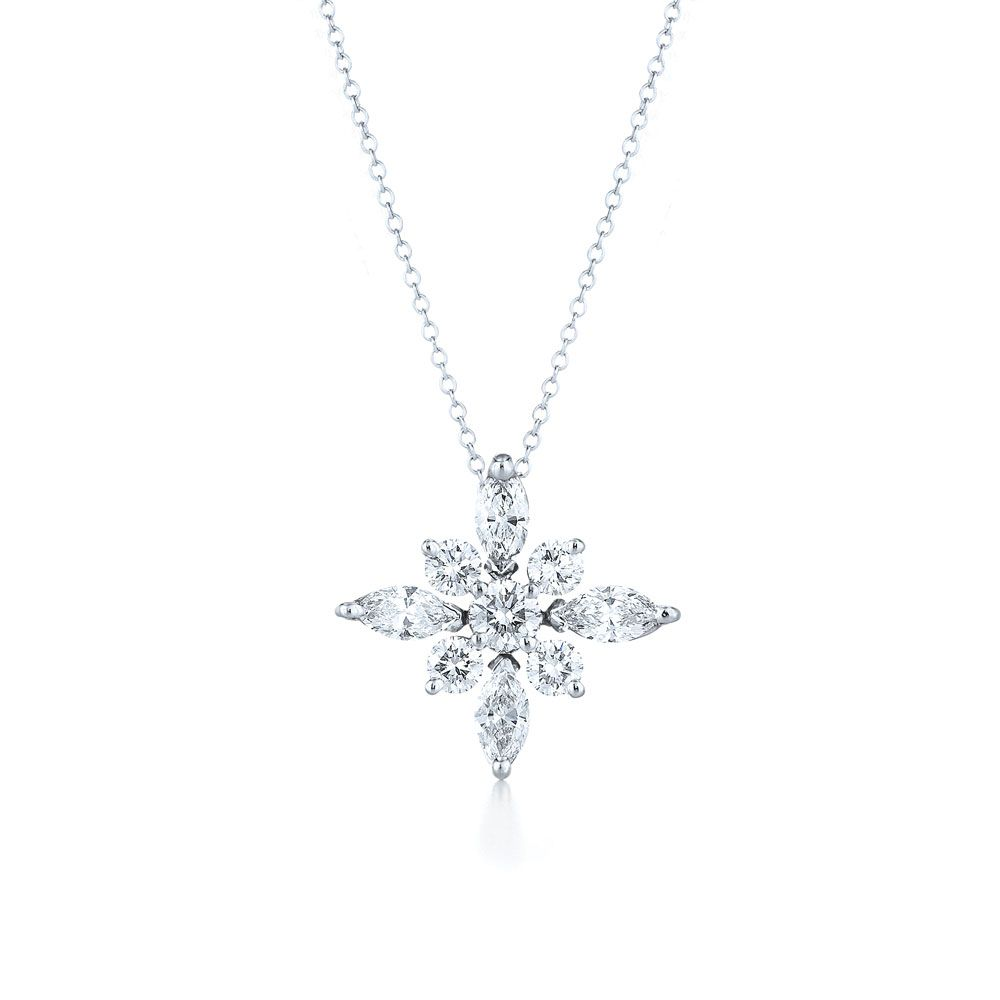 Platinum pendant kwiat star collection style 16992 star pendant diamond pendant in kwiat star pendant style 16992 kwiat aloadofball Image collections
