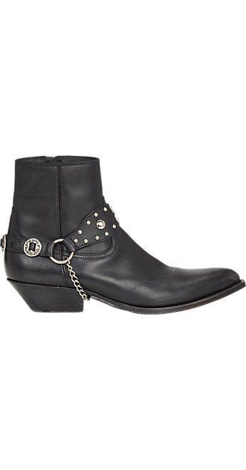 Saint Laurent Harness-Strap Santiag Boots - Boots - Barneys.com