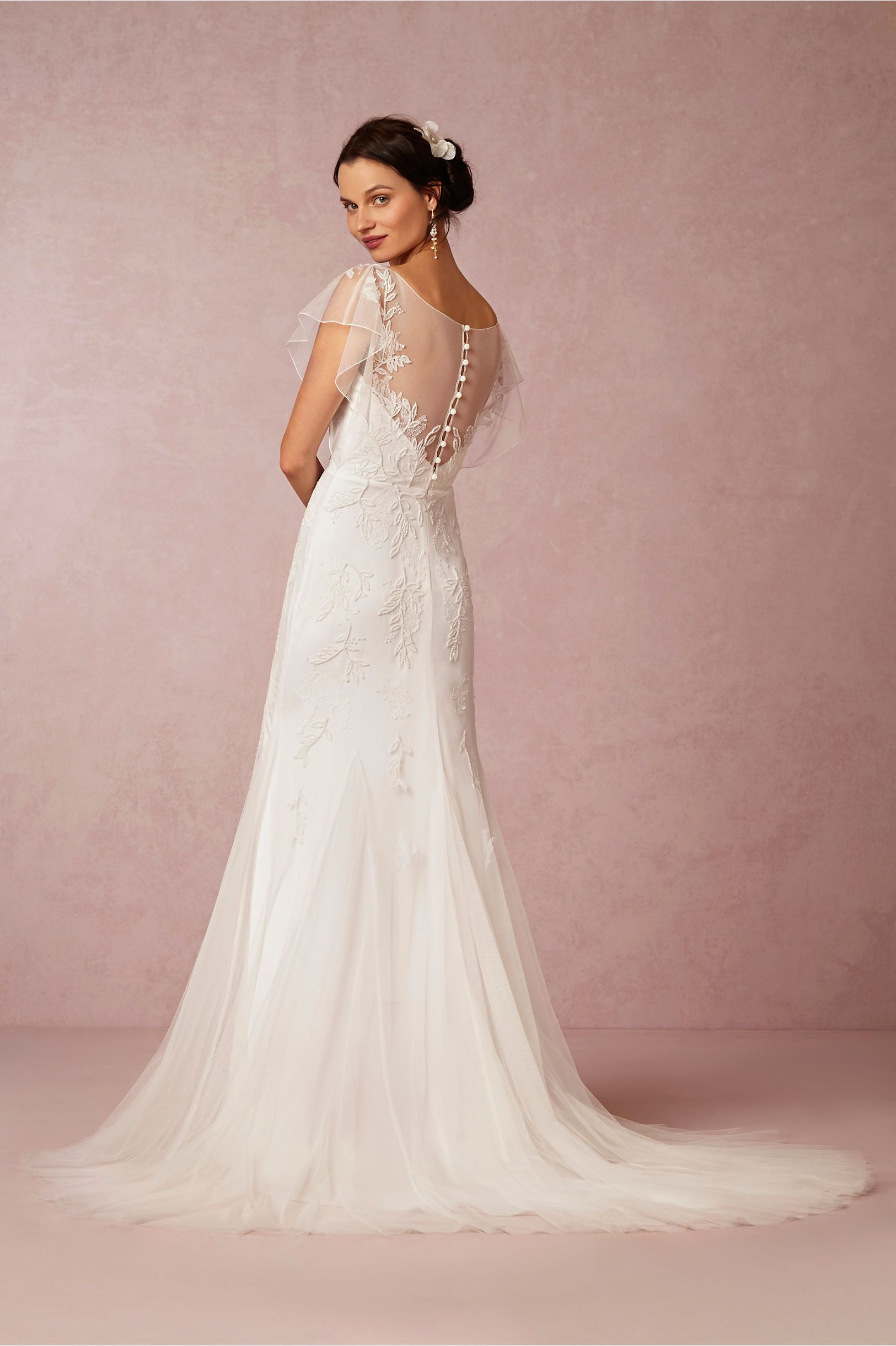 Bettina Gown from BHLDN back of dress. i think this is a gorgeous d ...