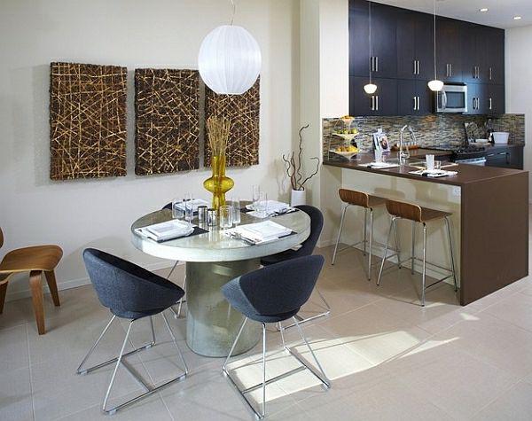 50 Einrichtungsideen für kleine Esszimmer - esszimmer esstisch - bilder für küche und esszimmer