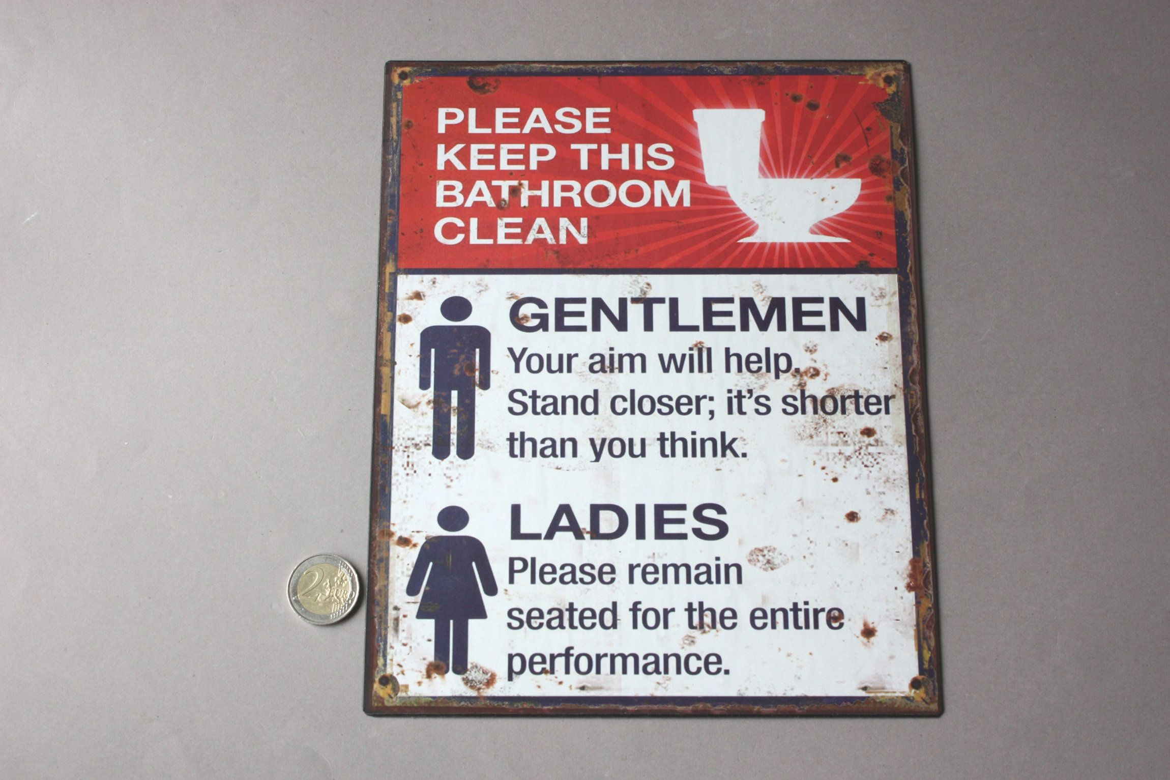 Please Keep This Bathroom Clean Door Sign Tidy Wc Toilet