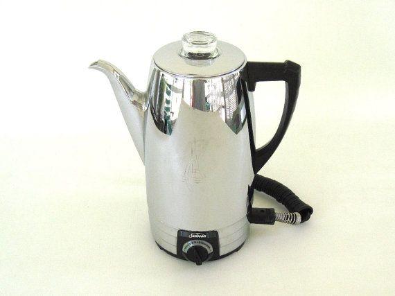 Sunbeam Percolator 10ap Electric Coffee Pot By Lauraslastditch 48 99