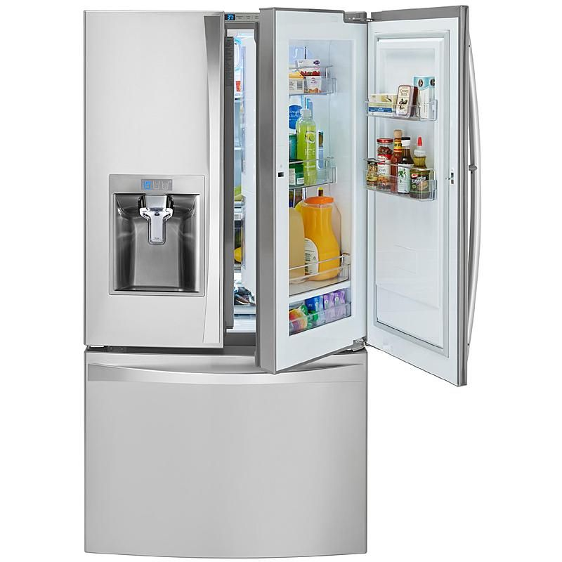 Kenmore Elite 74053 23 5 Cu Ft Counter Depth Bottom Freezer Refrigerator Lg French Door Refrigerator French Door Bottom Freezer Refrigerator French Door Bottom Freezer