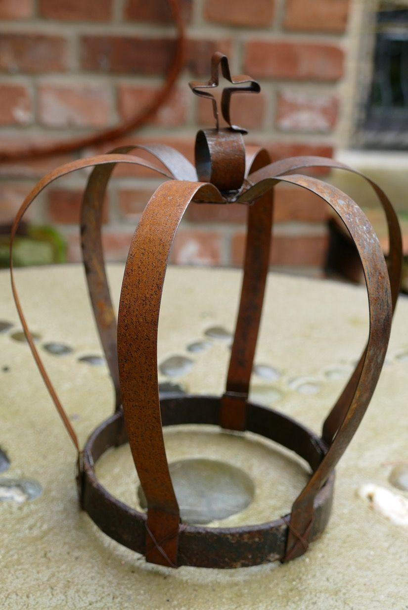 Krone aus stahlband pinteres for Gartendeko rost krone
