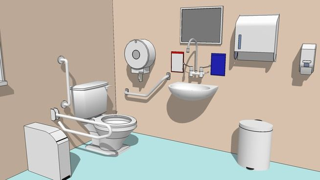 General workplace bathroom toilet 3d warehouse 卫生间 in 2019