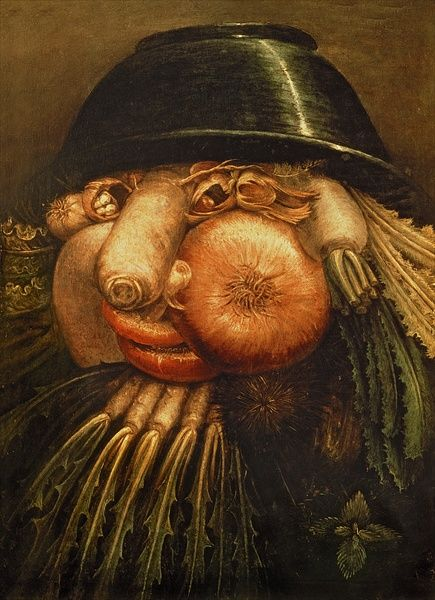 Project #2 Me, Myself and I Giuseppe Arcimboldo  He was very unique in his style of portraits.  Arcimboldo used objects of everyday life to create his portraits of people. His style combined still life with portraiture.