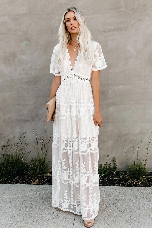 White Floral Lace Maxi Dress White Lace Maxi Dress Floral Lace Maxi Dress Lace Maxi Dress [ 1500 x 1001 Pixel ]