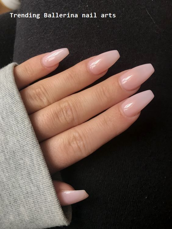 Ballerina Nails On Trend 1 In 2020 Coffin Nails Designs Nail Colors Pink Nails