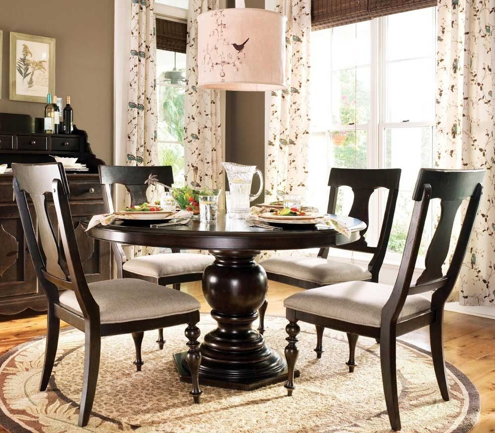 Paula Deen Round Dining Table Dining Set 5-Piece UF-932655-632-5PC ...