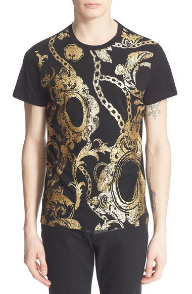 7b89e3f0 Versace Jeans Foil Chain Print T-Shirt available at #Nordstrom ...