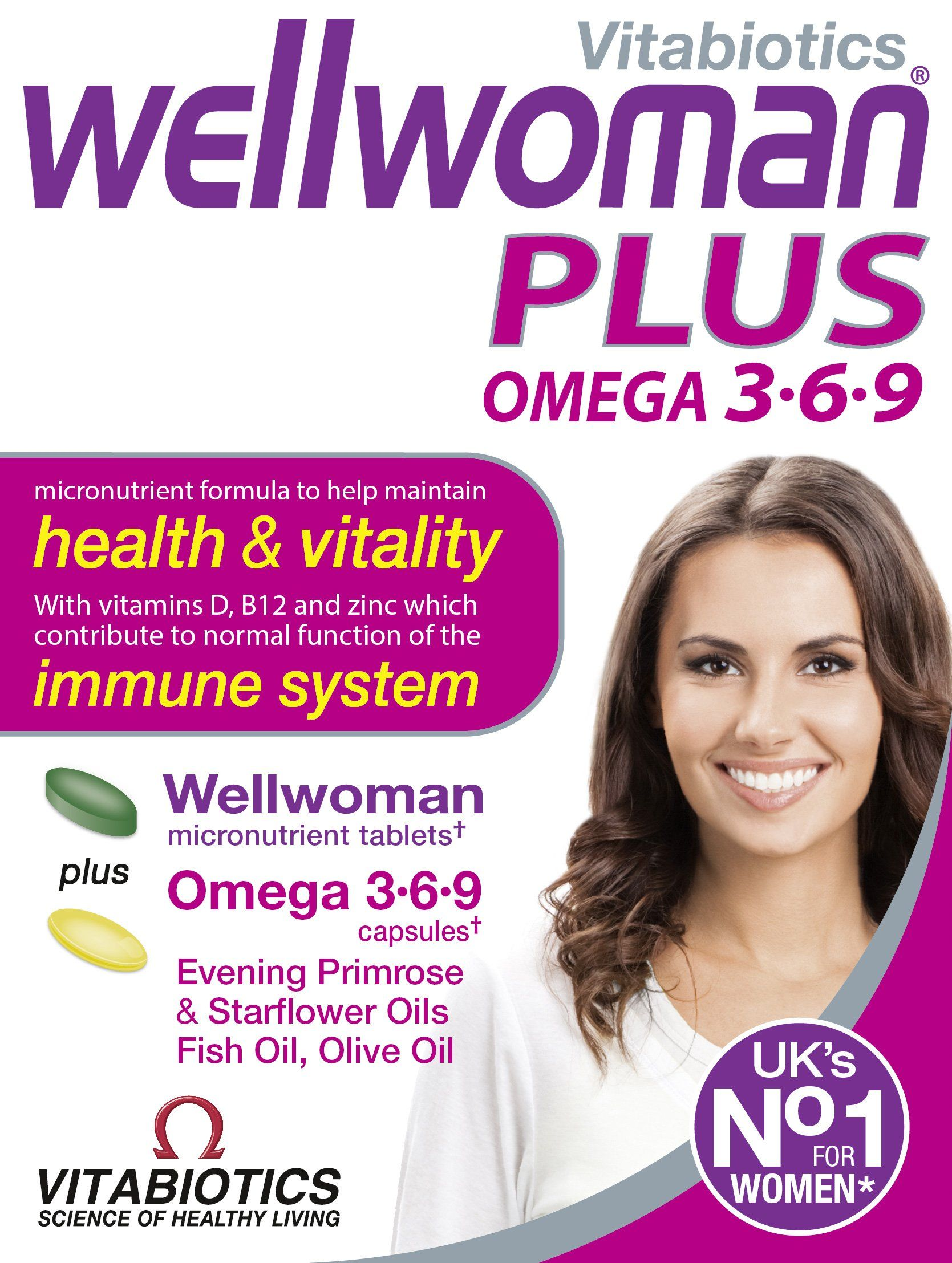 """Vitabiotics Wellwoman Plus Tablets 56 Capsules. RRP: £14.25 PRICE: £9.95 (FREE Delivery); you SAVE £4.30 (30%); OMEGA 3 6 9 ALSO contains all the benefits of the Original nutritional supplements; KEEP UP with your DAILY LIFE.. """"GREAT all round vitamin and good VALUE for MONEY. Would RECOMMEND"""" – By Izzywizzy via: http://www.sd4shila.net/uk-visitors OR http://sd4shila.creativesolutionstore.com/inter-links.html  OR http://sd4shila.creativesolutionstore.com OR http://www.sd4shila.net"""