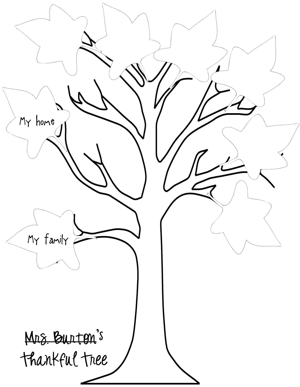 Thankful Tree Printable And Leaves Printable