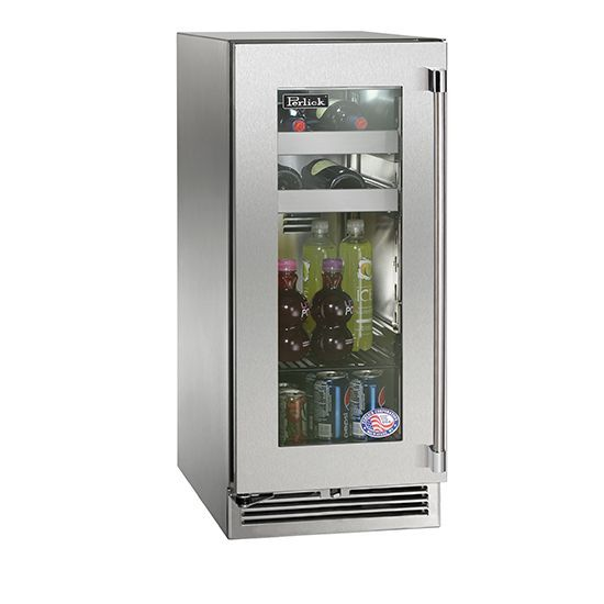Perlick 15 Glass Door Refrigerator Interiordesign Appliances
