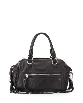 43bd82442d8 Zander+Leather+Satchel+Bag,+Black++by+Ash+at+Neiman+Marcus+Last+Call ...