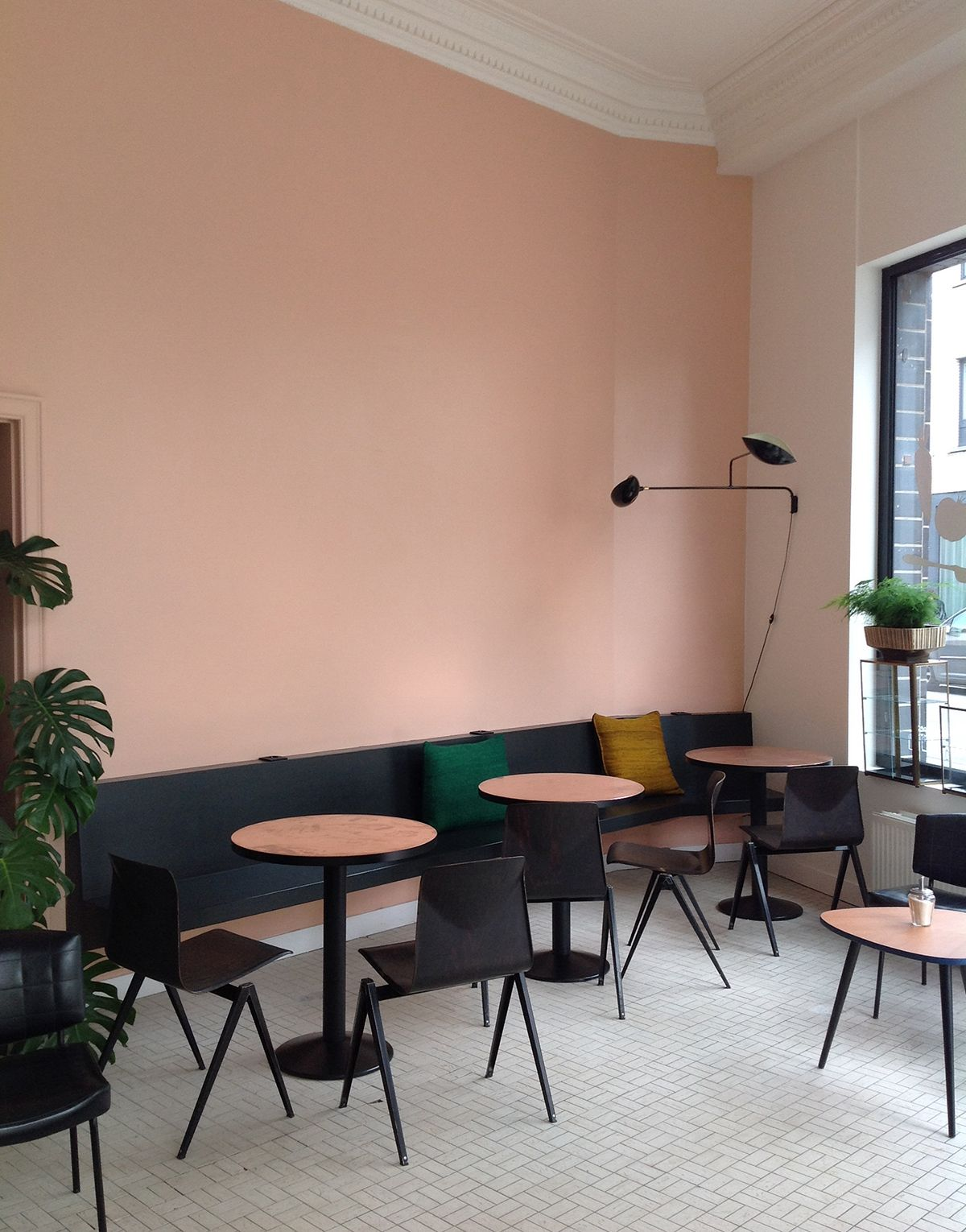 including a pastel cafe interior and the debut of an argentinian