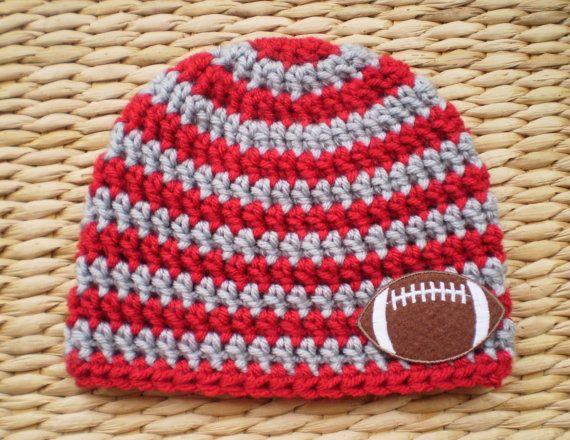 Ohio State Football Beanie by Sadie's Cottage, $14.00
