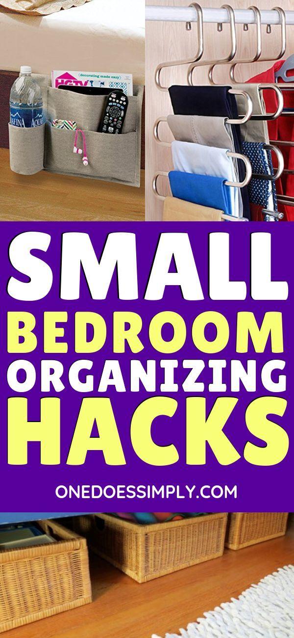11+ Genius Organization Hacks for Tiny Bedroom images