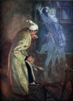 A Christmas Carol Scrooge And Marley.A Christmas Carol Charles Dickens 1843 Jacob Marley Visits